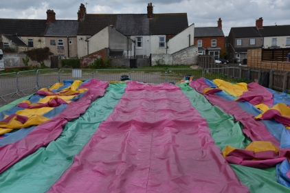 An English Man's Home is his bouncy castle - Mablethorpe